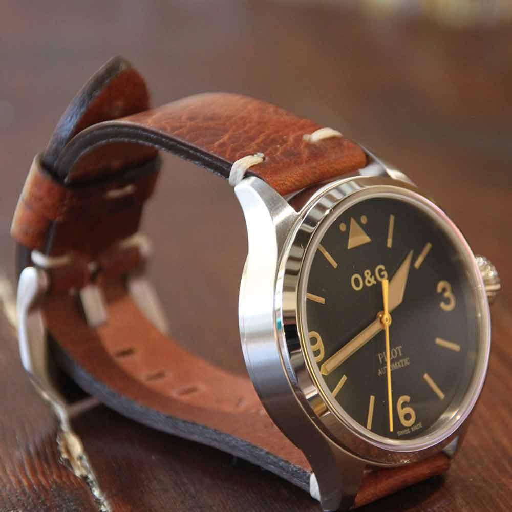 arezzo strap bracelet montre cuir