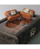 Watch Box leather Cubano 8 vintage