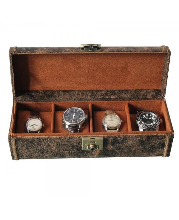 Watch Box leather Cubano 4 vintage