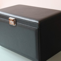 Scatola del Tempo 7 RT watch case and watchwinders Black Leather Grain