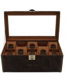 Watch Box leather Cubano 20 XL vintage