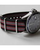 NATO Strap Goldfinger Grey red black 22mm