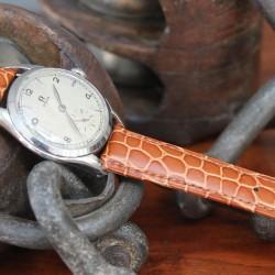Watchstrap Hirsch ARISTOCRAT gold brown 18mm