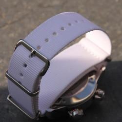 Bracelet de montre NATO 22mm blanc