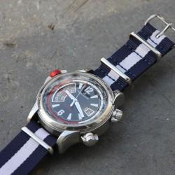 NATO Strap Blue White Blue 22mm