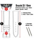 Bracelet Arezzo TAGHADAK 20mm Cuir de Cheval