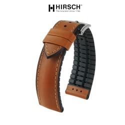 Watchstrap Hirsch JAMES Performance gold brown 20mm