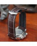 Watchstrap Hirsch GEORGE dark brown 22mm and black rubber