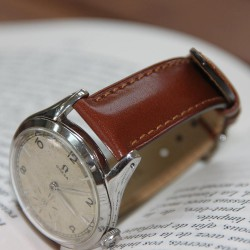 Watchstrap Hirsch Siena light brown 18mm Tuscan leather