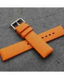 Watchstrap Hirsch PURE Orange 22mm Rubber