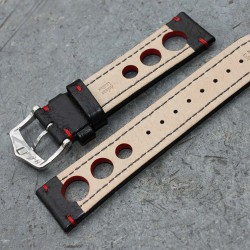 Watchstrap Hirsch Rally bracl red 20mm