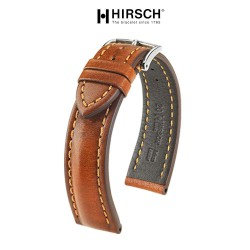 Watchstrap Hirsch LUCCA gold brown 20mm