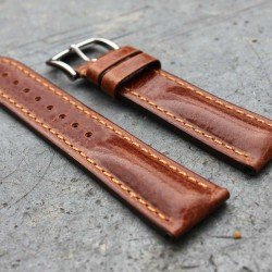 Watchstrap Hirsch LUCCA gold brown 22mm