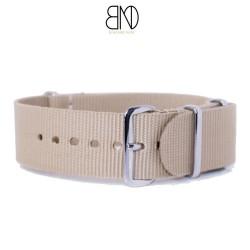 Bracelet de montre NATO 24mm beige