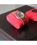 Carbon watchbox black and red Friedrich 12 watch