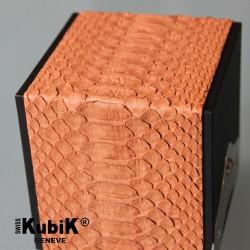 Swiss Kubik Galuchic python skin light brown