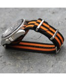NATO Strap 20mm James Bond Black Orange