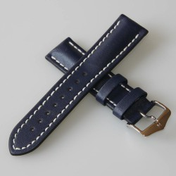 Watchstrap Hirsch Heavy Calf blue 24mm