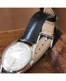 Watchstrap Hirsch Siena black 18mm Tuscan leather