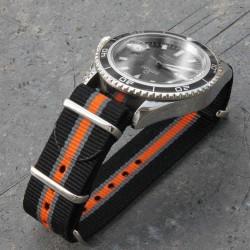 NATO Black Grey Orange 20mm