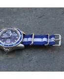 NATO Strap Blue White Blue 20mm