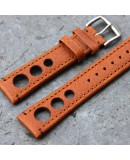 Watchstrap Hirsch Rally gold brown 20mm