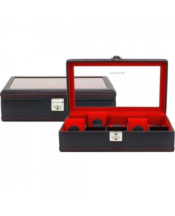 Carbon watchbox black and red Friedrich 10 watch
