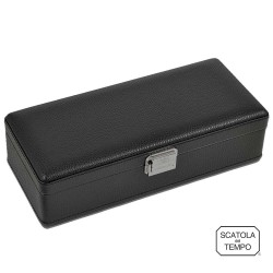 Scatola del Tempo - Watchbox - 4B-OS-XXL Black leather
