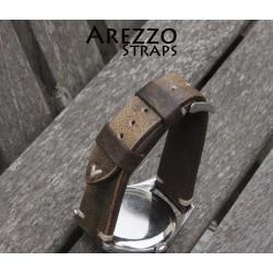 Arezzo TOPGUN 18mm Cuir marron doré