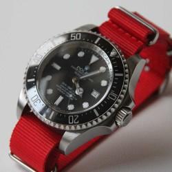 Bracelet de montre NATO 20mm Rouge