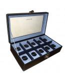 Carbon watchbox grey and blue Friedrich 10 watch