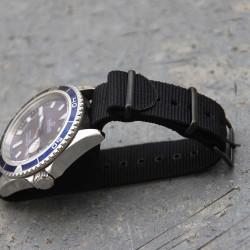 NATO Strap black PVD Black 20mm