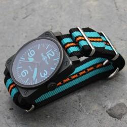 Bracelet de montre NATO 24mm Turquoise