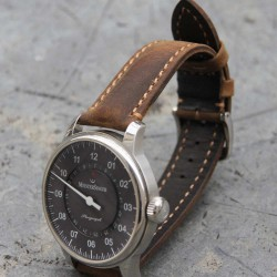 Watchstrap Hirsch HERITAGE dark brown 20mm