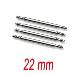 Set de 4 Barrettes inox 22mm renforcé pour bracelet