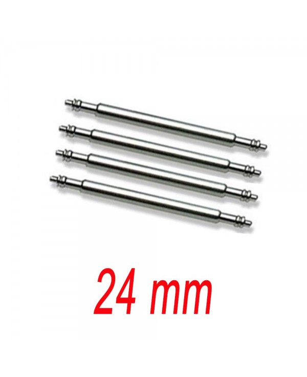 Set of 4 springbar 24mm stainless steel