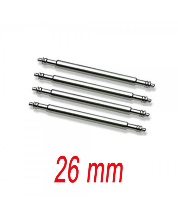 Set of 4 springbar 26mm stainless steel