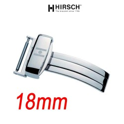 Deployment Buckle 18mm Hirsch SPORT Polished Stainless Steel