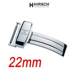 Hirsch Boucle déployante 22mm SPORT inox poli hypoallergénique