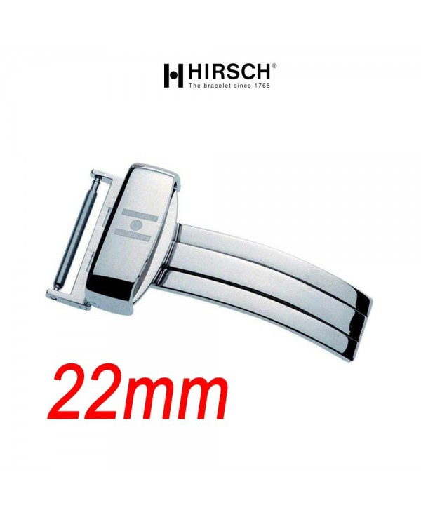 Deployment Buckle 22mm Hirsch SPORT Polished Stainless Steel