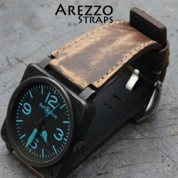 Watchstrap Arezzo vintage TOPGUN for BR03 BR01