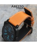 Watchstrap Arezzo brown MARINA for BR03 BR01