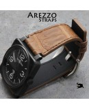 Watchstrap Arezzo Alligator for BR03 BR01 brown