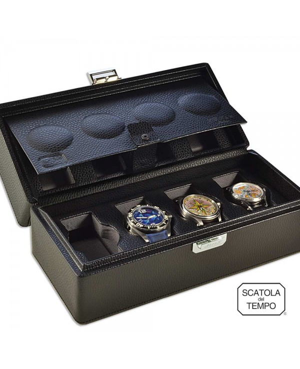 Scatola del Tempo - Watchbox - 8B-OS-XXL black grained leather