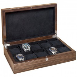 Watchbox Macassar Glossy for 10 watch Beco