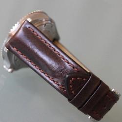 Watchstrap Hirsch Carbon Orange 18mm