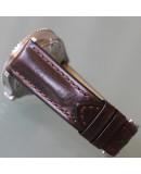 Watchstrap Hirsch LUCCA dark brown 22mm