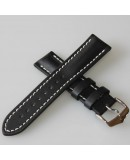 Watchstrap Hirsch Heavy Calf Black 22mm