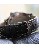Watchstrap Hirsch Viscount Alligator Black 22mm