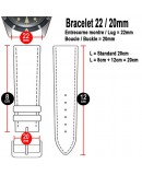 Watchstrap Hirsch Rally black and red 22mm
